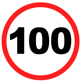 100kms sign